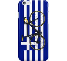 Bike Flag Greece (Big - Highlight) iPhone Case/Skin