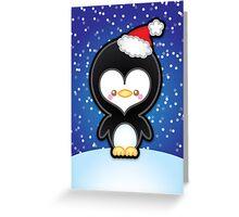 Cute Kawaii Christmas Penguin Greeting Card