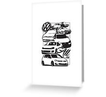 Volkswagen All In Greeting Card