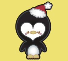 Cute Kawaii Christmas Penguin Baby Tee