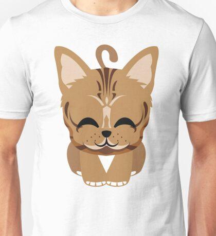 Bengal Cat Emoji Happy with Joy Look Unisex T-Shirt