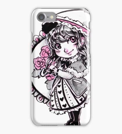 Gothic Lolita with Umbrella iPhone Case/Skin