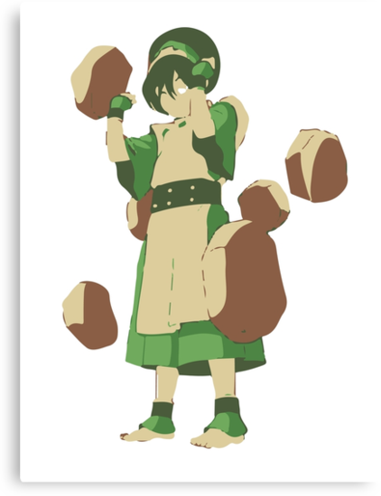 Minimalist Toph from Avatar the Last Airbender by Himehimine