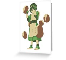 Minimalist Toph from Avatar the Last Airbender Greeting Card