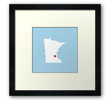 Minnesota Love Framed Print