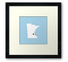 Minnesota Love Framed Print
