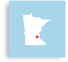 Minnesota Love Canvas Print
