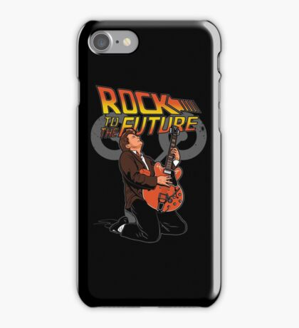 Rock to the future iPhone Case/Skin