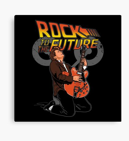 Rock to the future Canvas Print