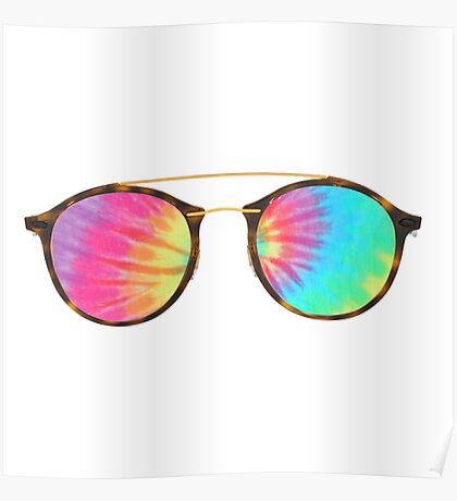 tie dye glasses Poster