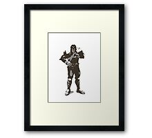 Minimalist Captain Falcon from Super Smash Bros. Brawl Framed Print