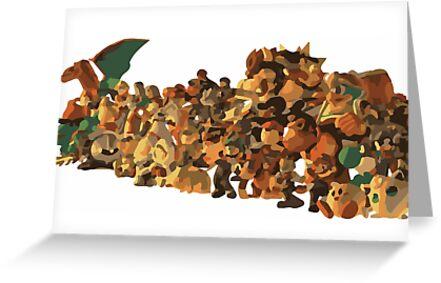 Minimalist Super Smash Bros. Brawl Cast by Himehimine