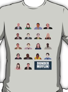 Dunder Mifflin Employee Headshots T-Shirt