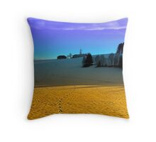 Colorful winter wonderland scenery | landscape photography Throw Pillow