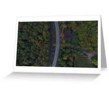 aerial drone road Greeting Card