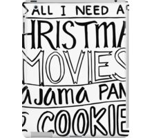 Christmas Movies - Pajama Pants and Cookies Holiday iPad Case/Skin
