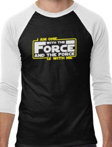 I am One With The Force And The Force Is With Me Men's Baseball ¾ T-Shirt