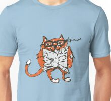 Cat Reading the News Unisex T-Shirt