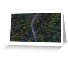 drone road curve  Greeting Card