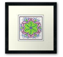 Tangled Pods and Leaves Framed Print