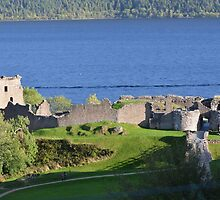 Urquhart Castle by mike  jordan.