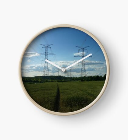 power lines Clock