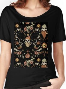 Black and Pink Woodsman  Women's Relaxed Fit T-Shirt