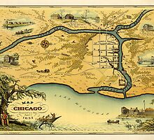 Pictorial Map of Chicago by AndrewFare