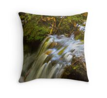 Almost Abstract in the Forest Throw Pillow