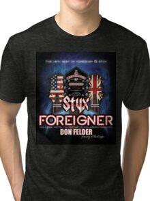 foreigner & styx tour 2014 Tri-blend T-Shirt