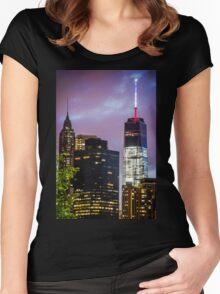 One World Trade Women's Fitted Scoop T-Shirt
