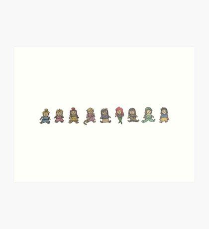 Princess Plushies Art Print