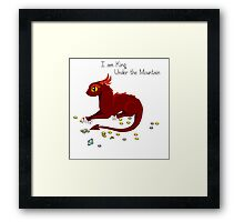 I am King Under The Mountain Framed Print