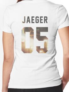 Jaeger Jersey #05 Women's Fitted V-Neck T-Shirt