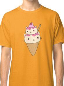 Cute and kawaii cat ice-cream cone Classic T-Shirt