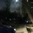 parking in moonlight by Nikolay Semyonov