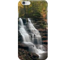 A Touch of Autumn at Erie Falls iPhone Case/Skin
