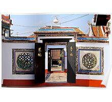 The Temple Doors - Melaka, Malaysia. Poster