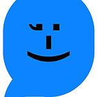 iPhone smiley (blue) emoticon by Jovan Djordjevic