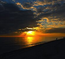 Sunset over Sanibel Island in Florida by 242Digital