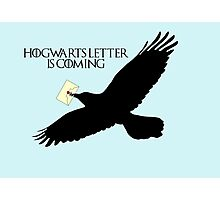 Hogwarts letter is coming  Photographic Print