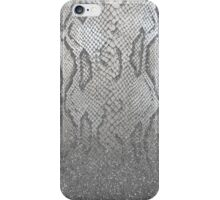 Shimmer (Silver Snake Glitter Abstract) iPhone Case/Skin