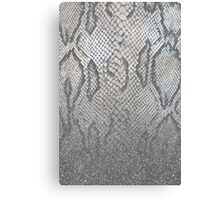 Shimmer (Silver Snake Glitter Abstract) Canvas Print