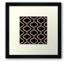 Gold mughal lattice Pattern Framed Print