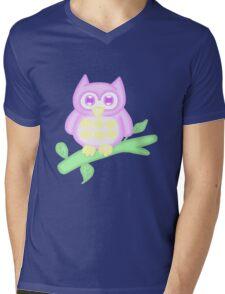 Kawaii Purple Owl  Mens V-Neck T-Shirt