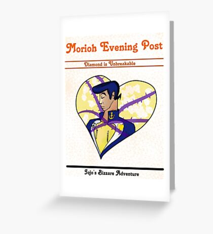 Morioh Evening Post Greeting Card