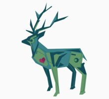 Abstract vector stag by tkrart
