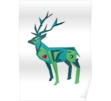 Abstract vector stag Poster