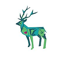 Abstract vector stag Photographic Print