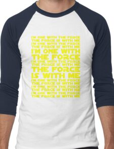 The Force is with me and I am one with the Force Men's Baseball ¾ T-Shirt